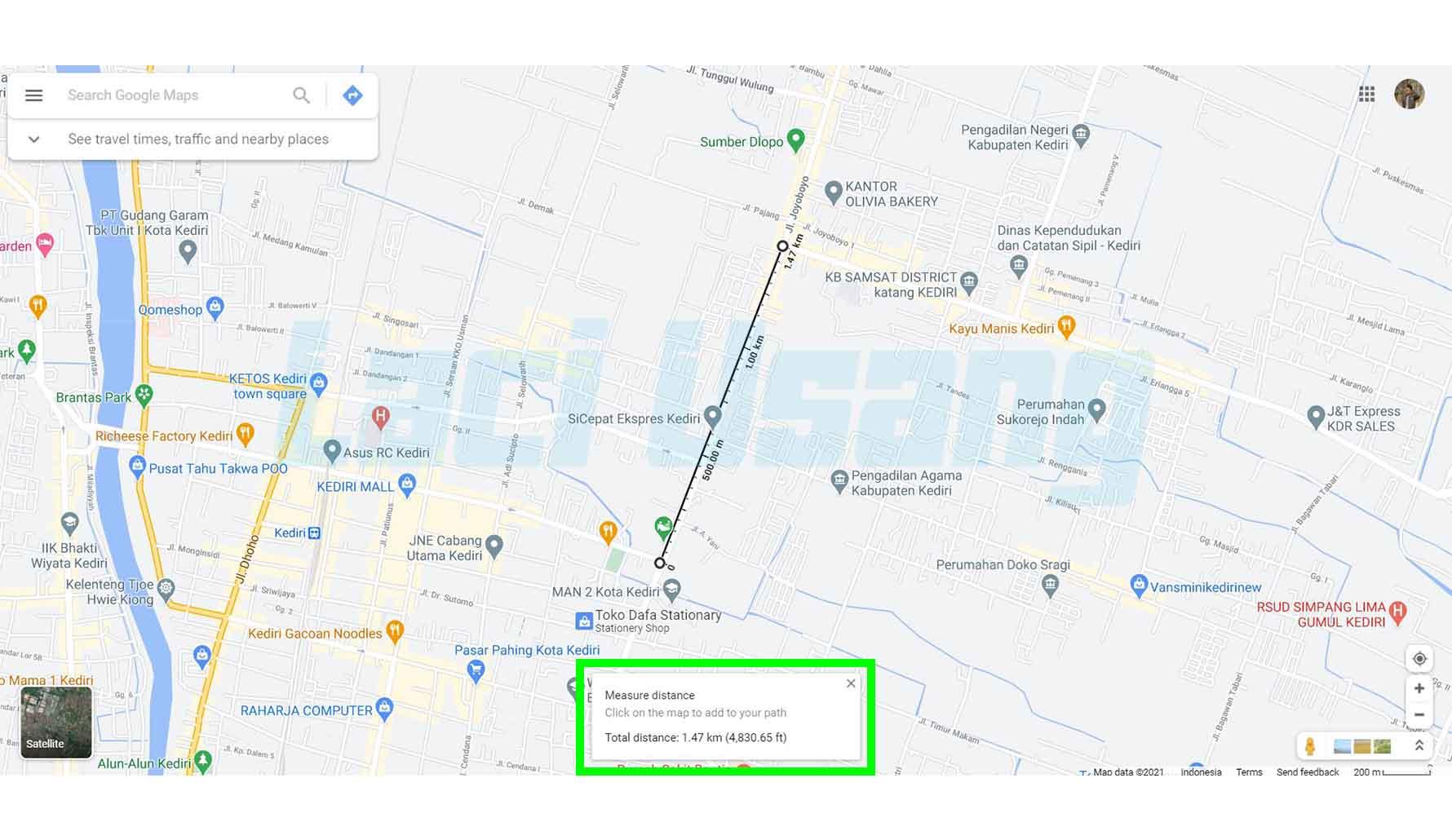 Cara Menghitung Jarak di Google Maps