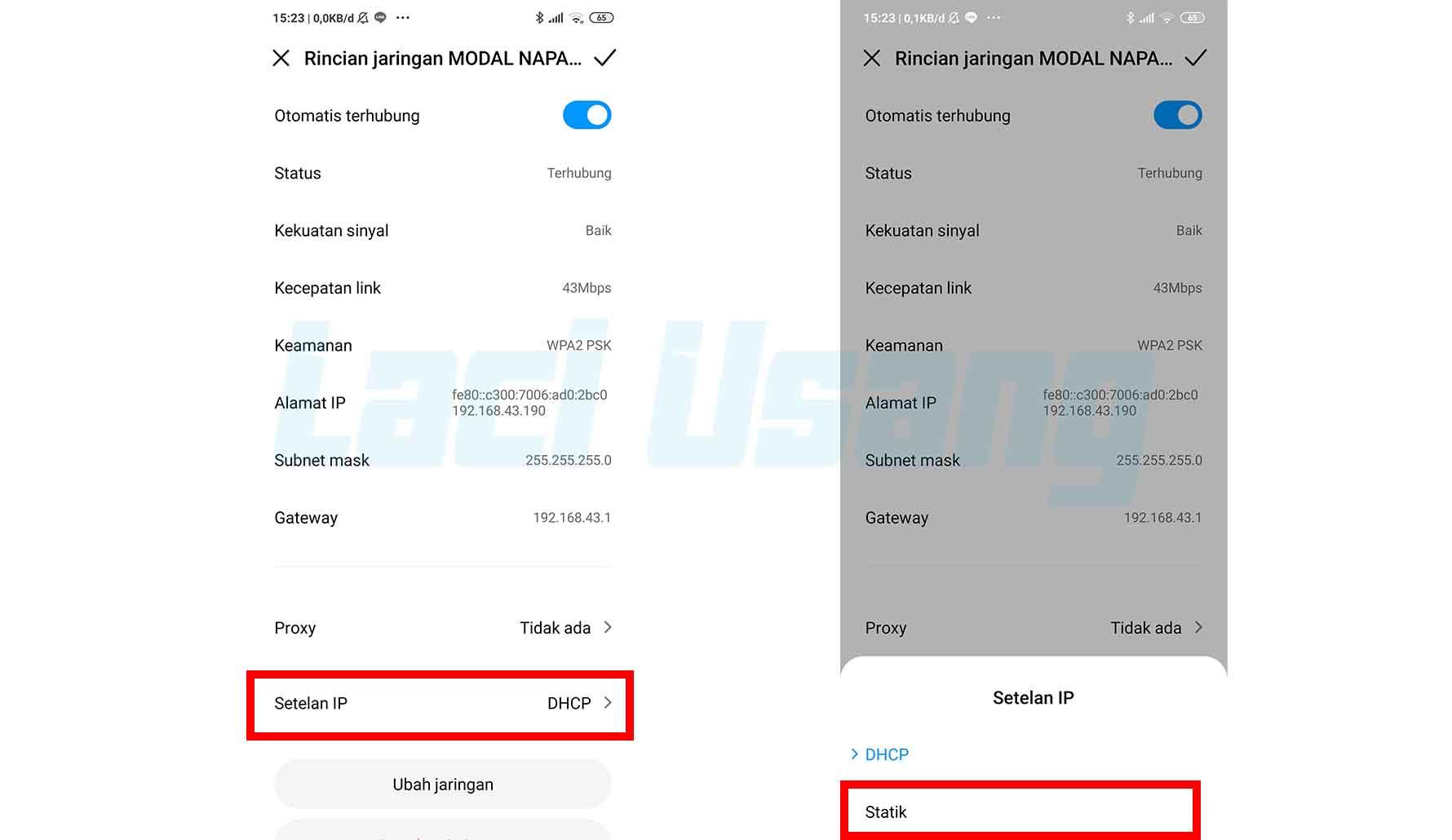 Cara Mengubah Setelah IP Address Wifi di Android