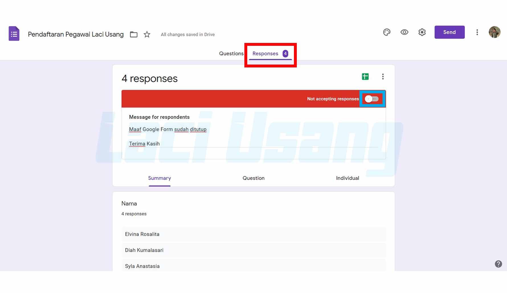 Cara Menutup Google Form