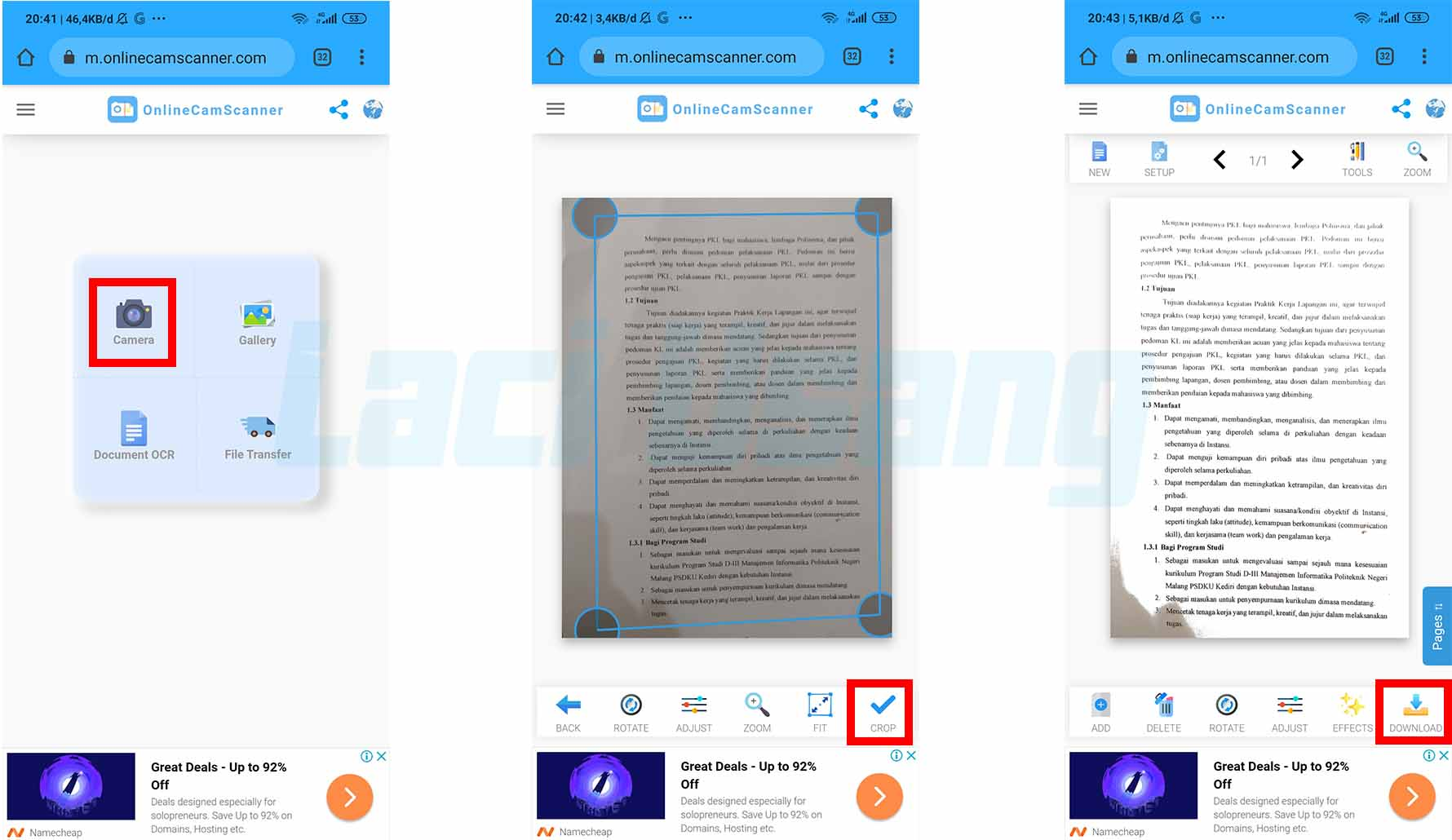 Cara Scan Ijazah Lewat HP Tanpa Aplikasi
