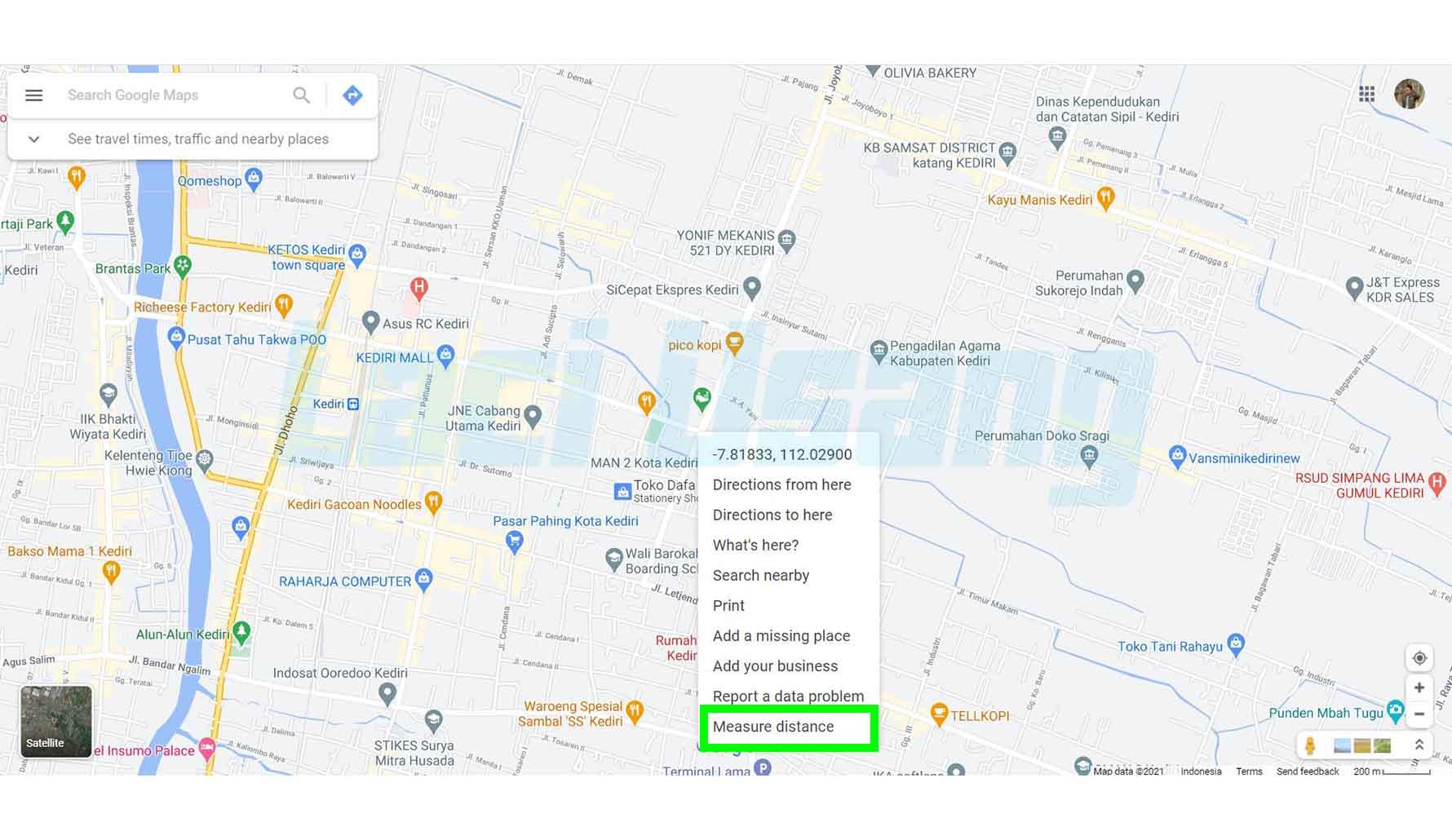 Mengukur Jarak di Google Map