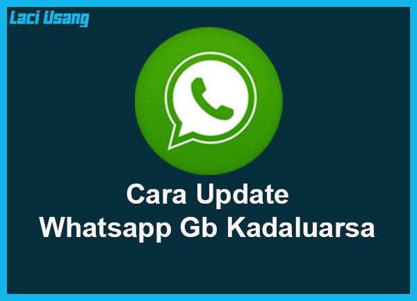 cara memperbarui whatsapp gb