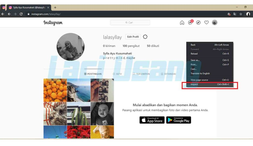 cara upload foto dan video instagram via web