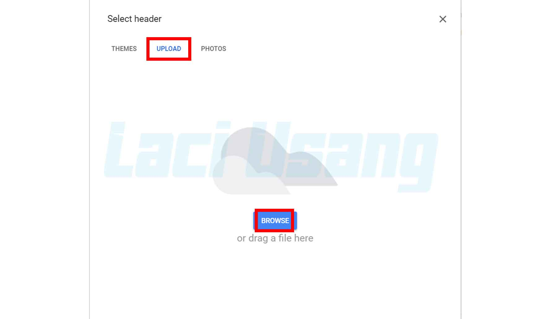 Upload Header Google Form Sesuai Ukuran