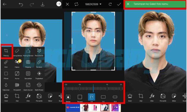 cara edit background pas foto dengan aplikasi eraser
