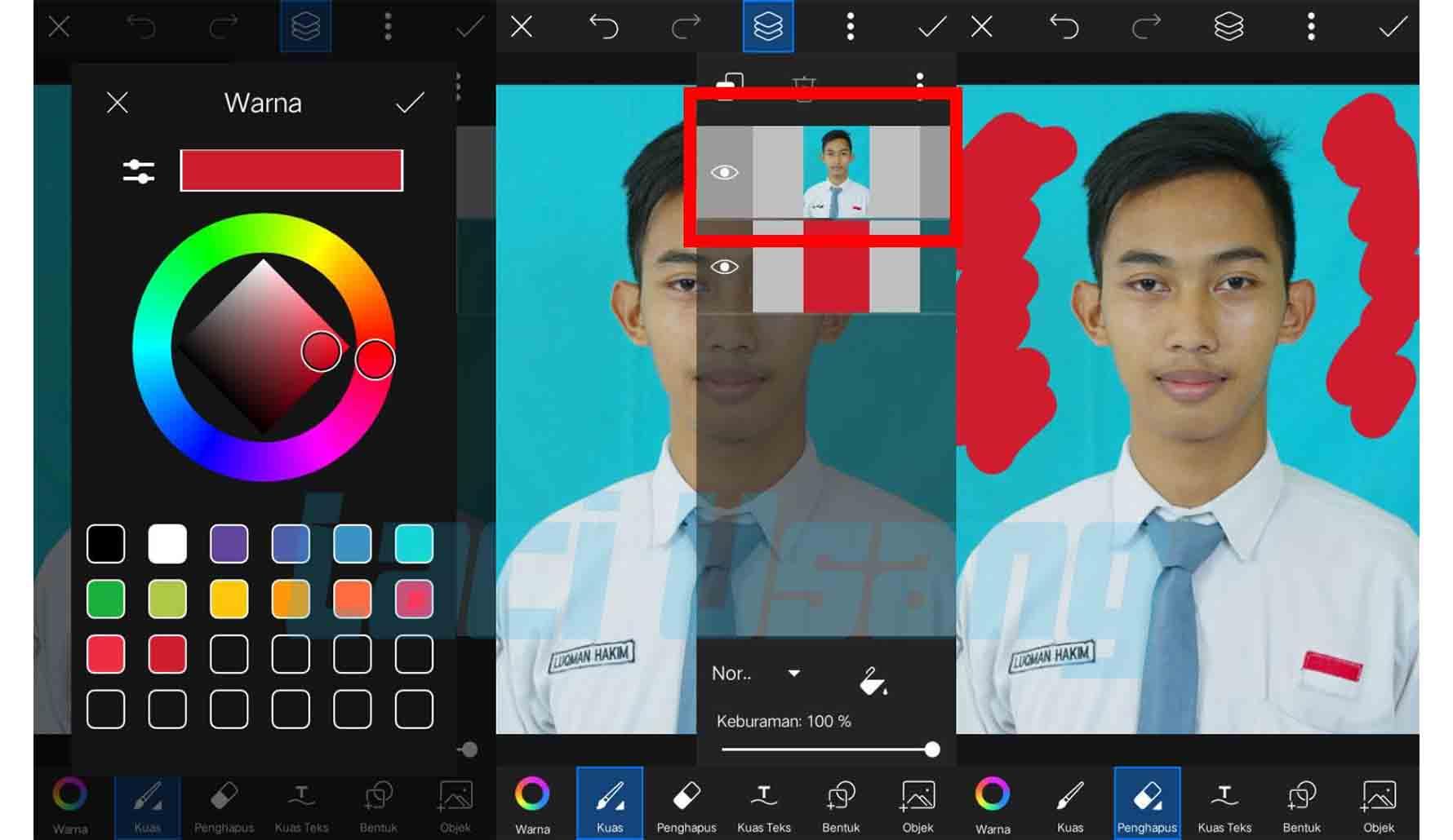 cara edit background pas foto dengan picsart