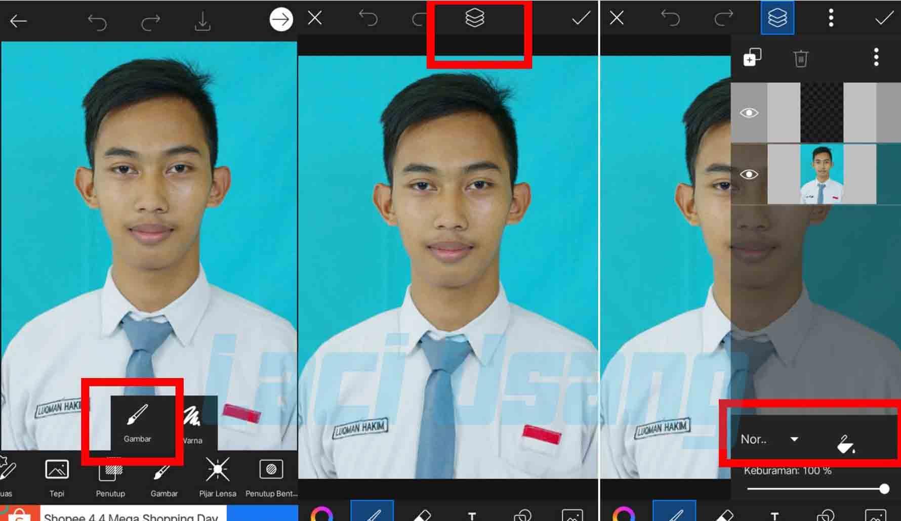 cara edit background warna foto di picsart