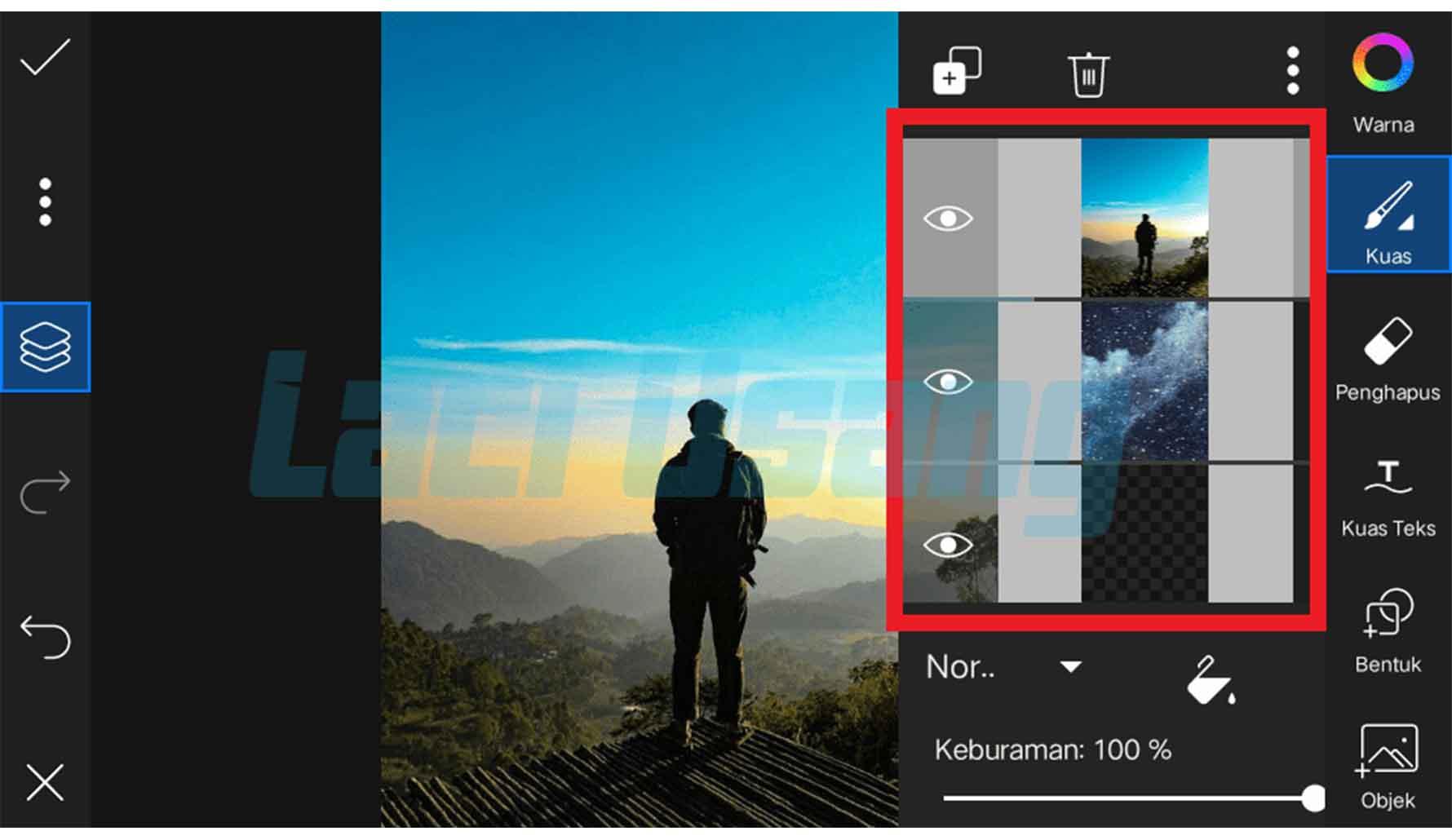 cara mengganti background foto dengan picsart 3.1