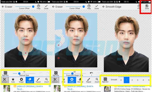 cara merubah warna background pas foto